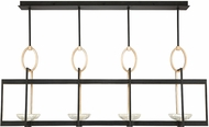 Fine Art Lamps 895540-3ST Delphi Modern Black LED Island Light Fixture