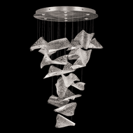 Fine Art Lamps 895840-161 Elevate Contemporary Silver Leaf LED Multi Drop Ceiling Lighting