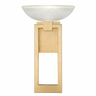 Fine Art Handcrafted Lighting 896150-2 Delphi Contemporary Gold LED Wall Lighting