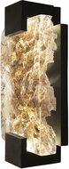 Fine Art Lamps 896550-12 Terra 896550-12 Black / Highlighted Antiqued Gold Leaf LED Interior / Exterior 12  Wall Lamp