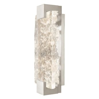 Fine Art Handcrafted Lighting 896550-21 Terra Modern Silver LED Wall Sconce Lighting
