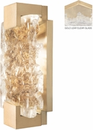 Fine Art Lamps 896550-31 Terra 896550-31 Gold / Clear LED Indoor / Outdoor 12 Light Sconce