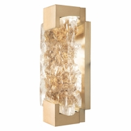 Fine Art Handcrafted Lighting 896550-32 Terra Contemporary Gold LED Wall Lighting Sconce