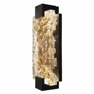 Fine Art Handcrafted Lighting 896650-12 Terra Contemporary Black LED Wall Mounted Lamp