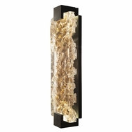Fine Art Handcrafted Lighting 896750-12 Terra Contemporary Black LED Wall Lamp