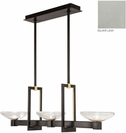 Fine Art Lamps 897040-1ST Delphi Modern Silver LED Kitchen Island Light Fixture