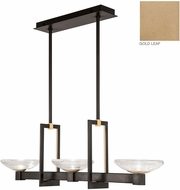 Fine Art Lamps 897040-2ST Delphi Contemporary Gold LED Island Lighting