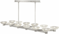 Fine Art Lamps 897140-1ST Delphi Contemporary Silver LED Kitchen Island Light