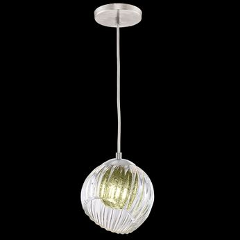 Fine Art Handcrafted Lighting 897440-1FG Nest Contemporary Silver LED Mini Hanging Lamp