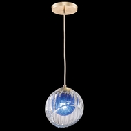 Fine Art Handcrafted Lighting 897440-2CO Nest Contemporary Gold LED Mini Hanging Light Fixture