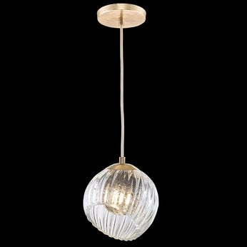 Fine Art Handcrafted Lighting 897440-2SQ Nest Modern Gold LED Mini Drop Ceiling Lighting