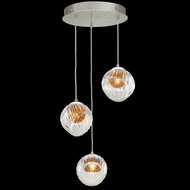 Fine Art Handcrafted Lighting 897540-1AB Nest Modern Silver LED Multi Ceiling Pendant Light