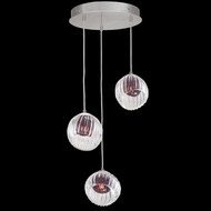 Fine Art Handcrafted Lighting 897540-1AM Nest Modern Silver LED Multi Drop Ceiling Light Fixture