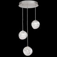 Fine Art Handcrafted Lighting 897540-1CL Nest Modern Silver LED Multi Pendant Lighting