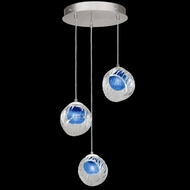 Fine Art Handcrafted Lighting 897540-1CO Nest Modern Silver LED Multi Pendant Light