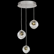 Fine Art Handcrafted Lighting 897540-1FG Nest Contemporary Silver LED Multi Lighting Pendant