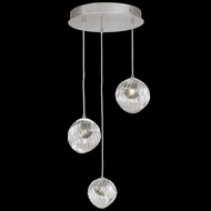 Fine Art Handcrafted Lighting 897540-1SQ Nest Contemporary Silver LED Multi Pendant Lamp