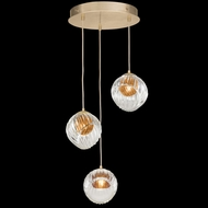 Fine Art Handcrafted Lighting 897540-2AB Nest Contemporary Gold LED Multi Hanging Light
