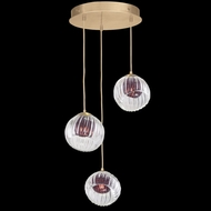 Fine Art Handcrafted Lighting 897540-2AM Nest Contemporary Gold LED Multi Pendant Light Fixture