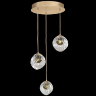 Fine Art Handcrafted Lighting 897540-2FG Nest Contemporary Gold LED Multi Pendant Hanging Light