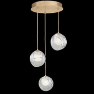 Fine Art Handcrafted Lighting 897540-2WH Nest Modern Gold LED Multi Drop Lighting