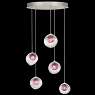 Fine Art Handcrafted Lighting 897640-1AM Nest Modern Silver LED Multi Ceiling Light Pendant