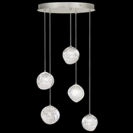 Fine Art Handcrafted Lighting 897640-1CL Nest Modern Silver LED Multi Drop Ceiling Light Fixture