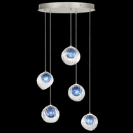 Fine Art Handcrafted Lighting 897640-1CO Nest Contemporary Silver LED Multi Drop Lighting Fixture