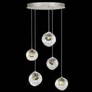 Fine Art Handcrafted Lighting 897640-1FG Nest Contemporary Silver LED Multi Pendant Lighting