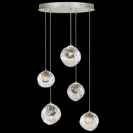 Fine Art Handcrafted Lighting 897640-1SQ Nest Contemporary Silver LED Multi Pendant Light