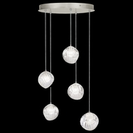 Fine Art Handcrafted Lighting 897640-1WH Nest Contemporary Silver LED Multi Lighting Pendant