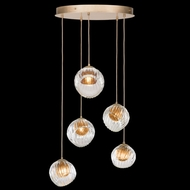 Fine Art Handcrafted Lighting 897640-2AB Nest Modern Gold LED Multi Pendant Lamp