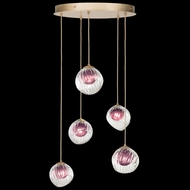 Fine Art Handcrafted Lighting 897640-2AM Nest Modern Gold LED Multi Hanging Lamp
