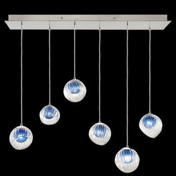 Fine Art Handcrafted Lighting 897740-1CO Nest Modern Silver LED Multi Ceiling Pendant Light