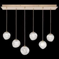 Fine Art Handcrafted Lighting 897740-2CL Nest Contemporary Gold LED Multi Hanging Lamp