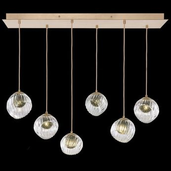 Fine Art Handcrafted Lighting 897740-2FG Nest Modern Gold LED Multi Pendant Light Fixture