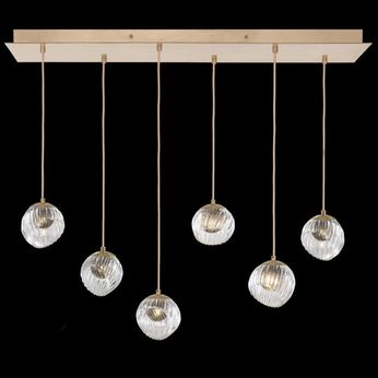 Fine Art Handcrafted Lighting 897740-2SQ Nest Modern Gold LED Multi Pendant Lighting Fixture