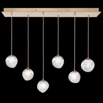 Fine Art Handcrafted Lighting 897740-2WH Nest Contemporary Gold LED Multi Hanging Pendant Lighting