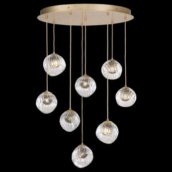 Fine Art Handcrafted Lighting 897840-2SQ Nest Contemporary Gold LED Multi Hanging Light