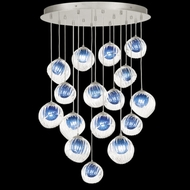 Fine Art Handcrafted Lighting 897940-1CO Nest Contemporary Silver LED Multi Hanging Light Fixture