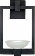 Fine Art Handcrafted Lighting 898581 Delphi Outdoor Contemporary Black LED Outdoor Wall Sconce
