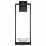 Fine Art Handcrafted Lighting 898681 Delphi Outdoor Modern Black LED Outdoor Wall Light Sconce