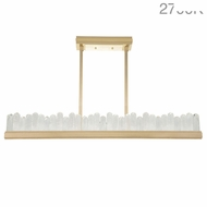 Fine Art Lamps 898840-21 Lior Contemporary Gold LED Kitchen Island Lighting