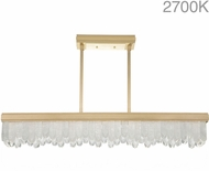Fine Art Lamps 898940-21ST Lior Contemporary Gold LED Kitchen Island Light