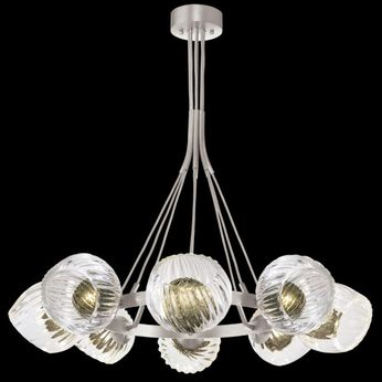 Fine Art Handcrafted Lighting 899240-18FG Nest Contemporary Silver LED Hanging Chandelier