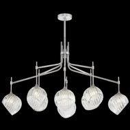 Fine Art Handcrafted Lighting 899340-1CL Nest Contemporary Silver LED Chandelier Light