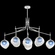 Fine Art Handcrafted Lighting 899340-1CO Nest Contemporary Silver LED Chandelier Lighting