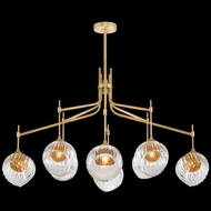 Fine Art Handcrafted Lighting 899340-2AB Nest Contemporary Gold LED Ceiling Chandelier