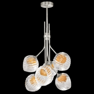 Fine Art Lamps 899440-1AB Nest Contemporary Silver LED Mini Hanging Chandelier