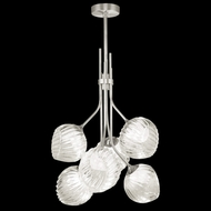 Fine Art Lamps 899440-1WH Nest Contemporary Silver LED Mini Hanging Chandelier
